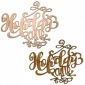 Holiday Cheer - Decorative MDF & Birch Ply Wood Words - LARGE