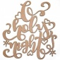 O Holy Night - Decorative MDF & Birch Ply Wood Words - LARGE