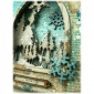 Gothic Arch ATC Wood Blank with Snowflake Frame