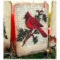 Cardinal on Snowy Fir Bough - MDF Bird Wood Shape