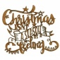 Christmas Season - Decorative MDF Wood Words