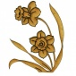 Duo of Daffodils MDF Wood Shape