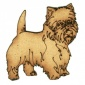 West Highland Terrier - MDF Wood Dog Shape