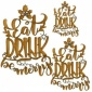 Eat, Drink, Be Merry - Decorative MDF Wood Words