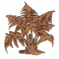Maidenhair Fern MDF Wood Shape - Style 1