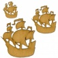 Galleon Boat MDF Wood Shape - Style 1