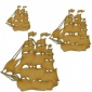 Galleon Boat MDF Wood Shape - Style 5
