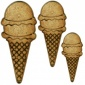 Waffle Cone with Double Scoop - MDF Wood Shape