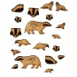 Sheet of Mini Badgers - MDF Wood Animal Shapes