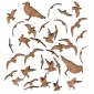 Sheet of Mini MDF Wood Birds - Seagulls