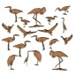 Sheet of Mini MDF Wood Birds - Water Birds