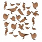 Sheet of Mini MDF Wood Birds - Garden Birds