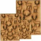 Sheet of Mini Deer & Antlers - MDF Wood Animal Shapes - Style 2