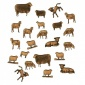 Sheet of Mini Sheep & Lambs - MDF Wood Animal Shapes