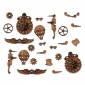 Sheet of Mini MDF Steampunk Motifs Style 3