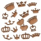 Sheet of Mini MDF Wood Crowns - Style 2