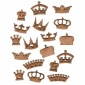 Sheet of Mini MDF Wood Crowns - Style 3