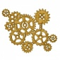 Steampunk Mechanical Cogs Motif Style 9