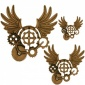 Steampunk Mechanical Cogs Motif Style 22
