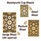 Sheet of Mini MDF Wood Cogs - Style 2