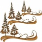 Winter Trees & Snow Swirls - MDF Wood Shape