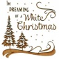 Dreaming of A White Christmas - MDF Wood Scene