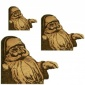 Jolly Santa - MDF Wood Corner Embellishment