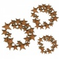 Mini Star Wreath MDF Wood Shape