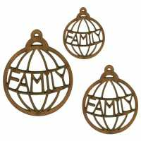 Christmas Word Baubles - Family & Home