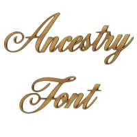 Ancestry MDF Wood Font - Create A Word