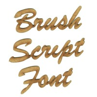 Brush Script MDF Wood Font - Create A Word