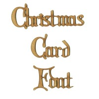 Christmas Card MDF Wood Font - Create A Word