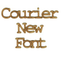 Courier MDF Wood Font - Create A Word