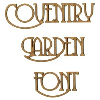Coventry Garden MDF Wood Font - Create A Word