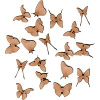 Mini Butterfly Wood Shapes