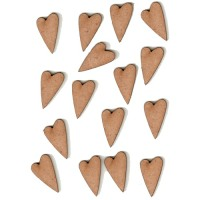 Mini Hearts & Stars Wood Shapes
