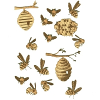 Mini Insects Wood Shapes