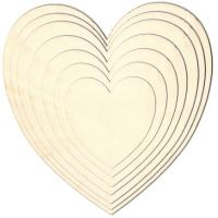 Birch Plywood Heart & Star Plaques