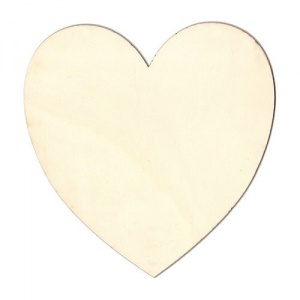 Standard Heart Birch Ply Wood Plaque