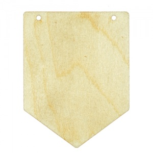 Birch Ply Flag Shape Bunting