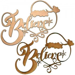 Believe - Decorative MDF & Birch Ply Wood Words - LARGE