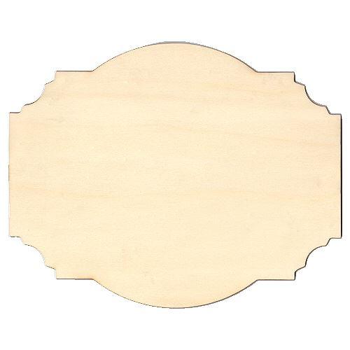 Fancy Birch Ply Wood Plaque Style 1