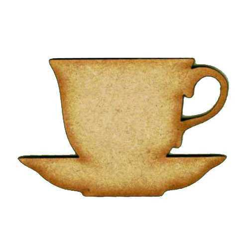 Wooden MDF Teapot Teacup Craft Shape Embellishment Sign Blank 3mm Thick