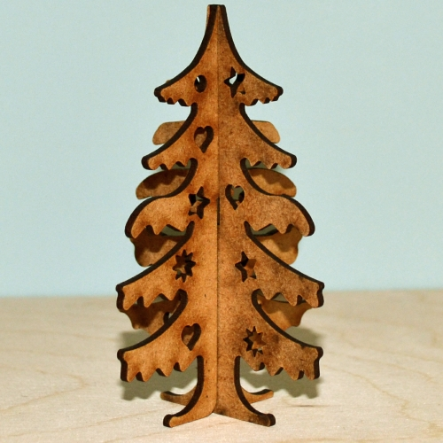 Captivating 3D Christmas Tree MDF Wood Kit   Style 2