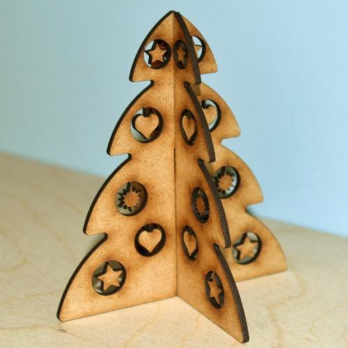 3d Christmas Tree Mdf Wood Kit Style 3