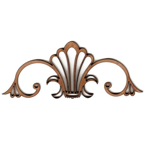 art deco nouveau style ornament 1 mdf wood shape. Black Bedroom Furniture Sets. Home Design Ideas