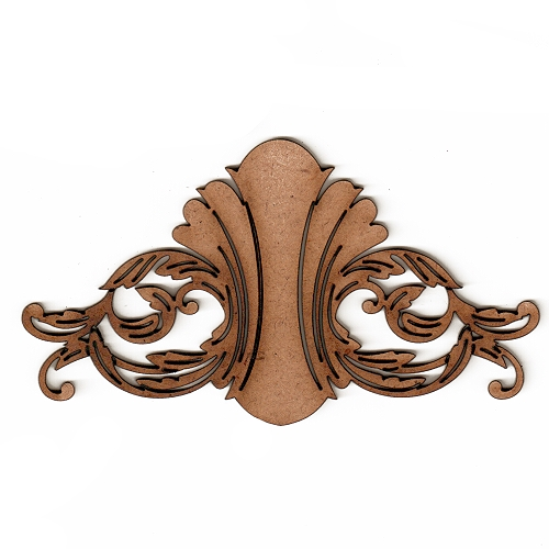 Art deco nouveau style ornament 4 mdf wood shape for Art nouveau shapes