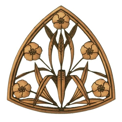 Art deco nouveau style ornament 16 mdf wood shape for Art nouveau shapes