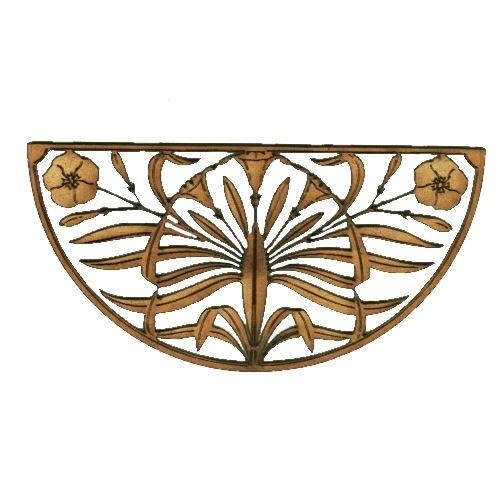 Deko Ornament.Art Deco Nouveau Style Floral Ornament Style 17