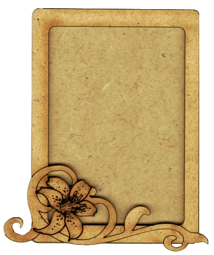 Plain ATC MDF Wood Blank with Lily & Scroll Frame